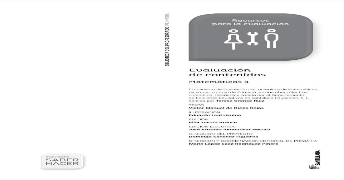 Matematicas 4 Primaria Santillana Saber Hacer - [PDF Document]