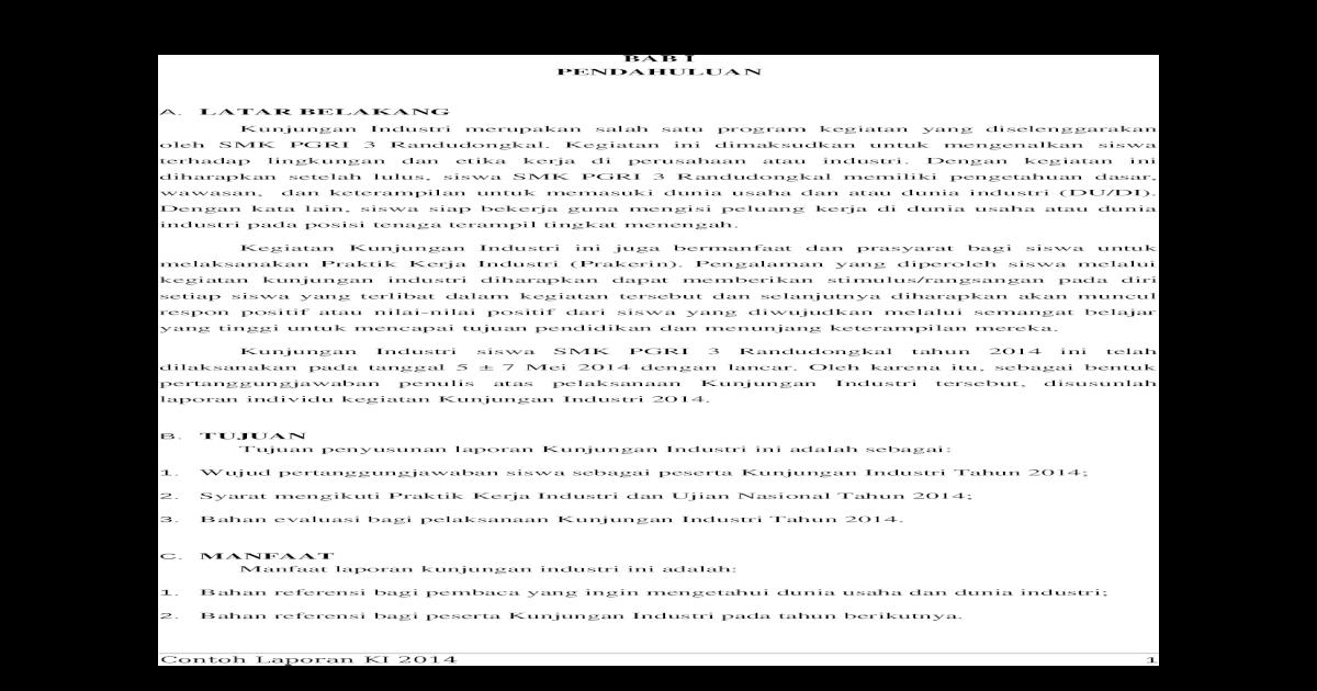Laporan Prakerin Ke Tvri Docx Document