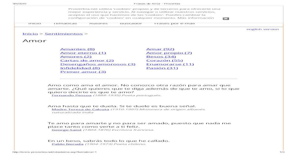 Frases De Amor Proverbia Pdf Document
