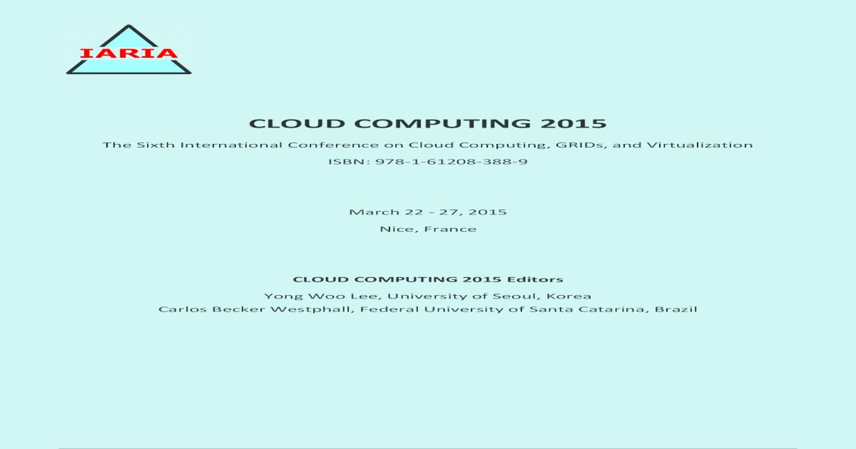 Cloud Computing 2015 Full - [PDF Document]