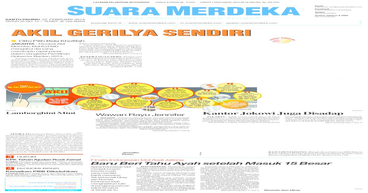 Suara Merdeka 22 Februari 2014 Pdf Document