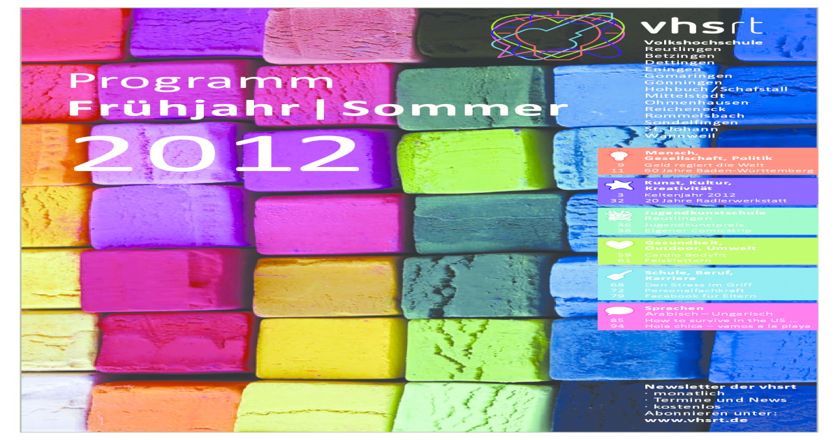 Programm Frühjahr/Sommer 2012 - [PDF Document]