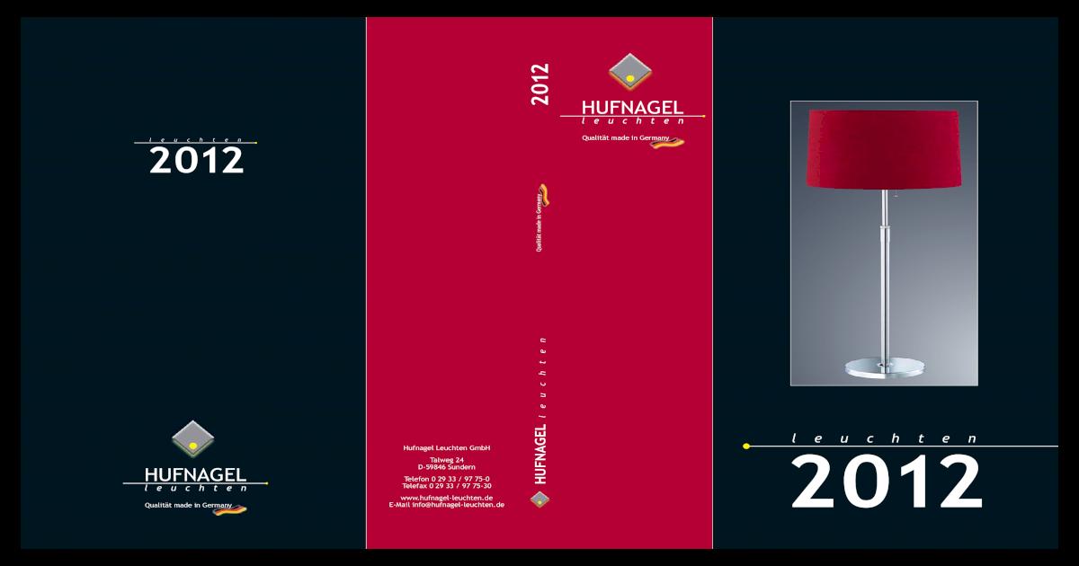 Hufnagel Leuchten Katalog 2012 Pdf Document