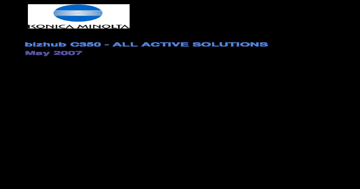 New Drivers: Konica Minolta Fiery X3e 20C-M