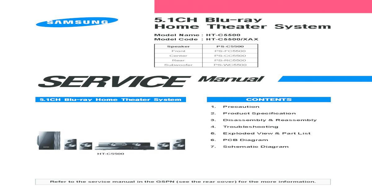 Samsung HT C5500 - [PDF Document]