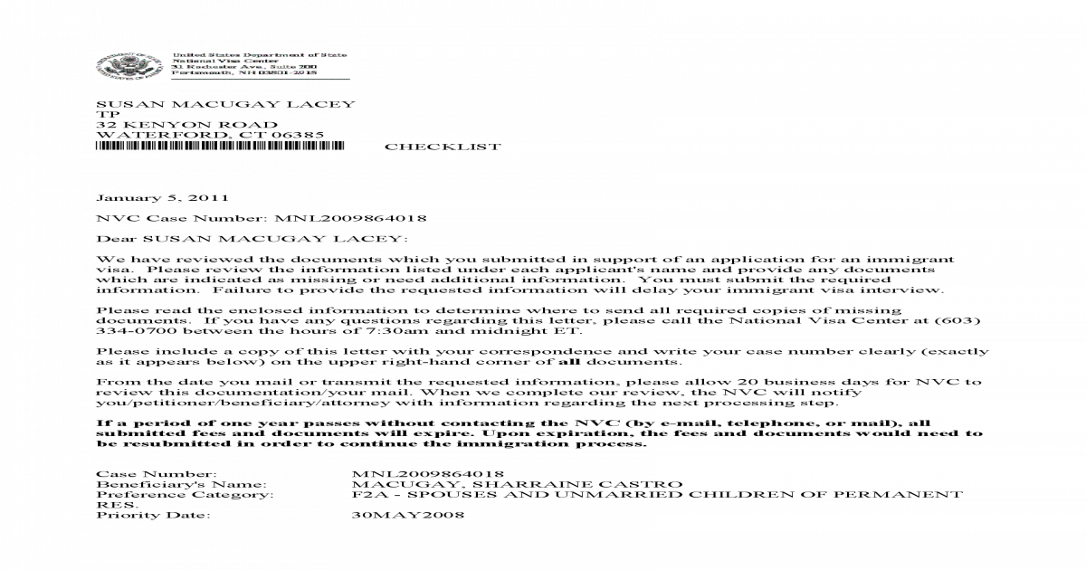Mnl2009864018 - Checklist Cover Letter[1] - [PDF Document]