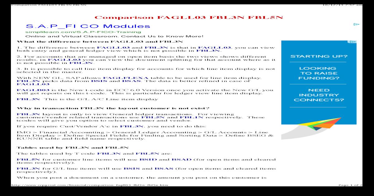 Comparison Fagll03 Fbl3n Fbl5nk - [PDF Document]