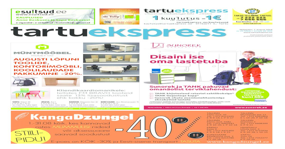 1a085200958 Tartu Ekspress, 7.08.2014 - [PDF Document]