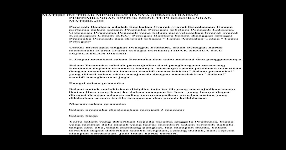 Rpp Pramuka Penegak Doc Revisi Sekolah