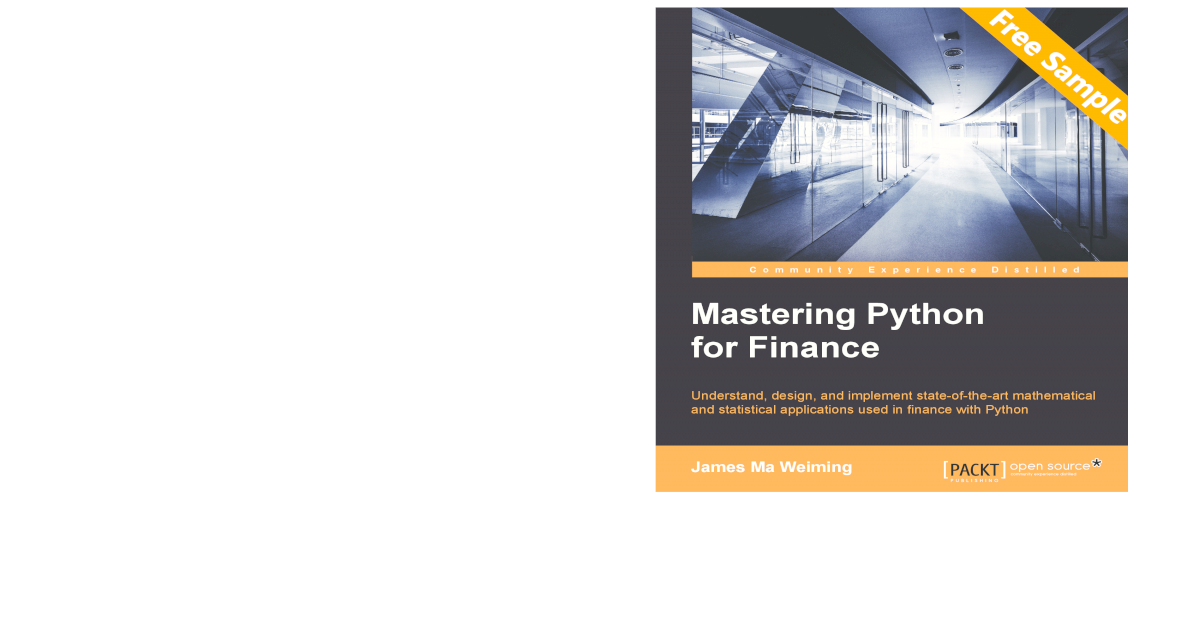 Mastering Python for Finance - Sample Chapter - [PDF Document]