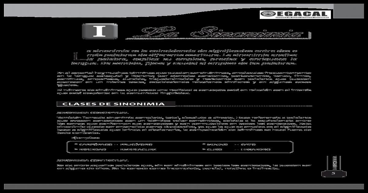 01 Sinonimia Pdf Document