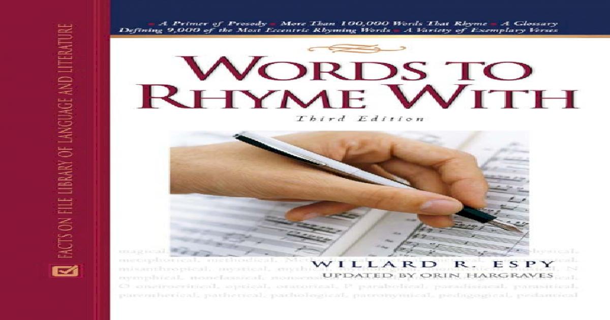 281228e7c7c3fa Rhyming Dictionary -  PDF Document