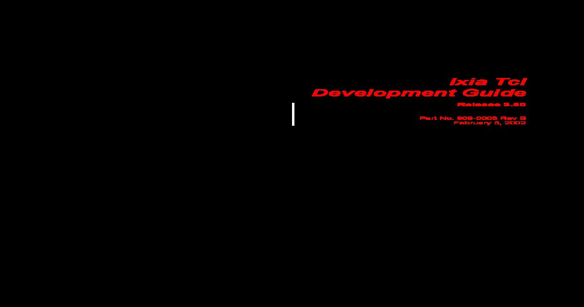 t Cl Development Guide - [PDF Document]
