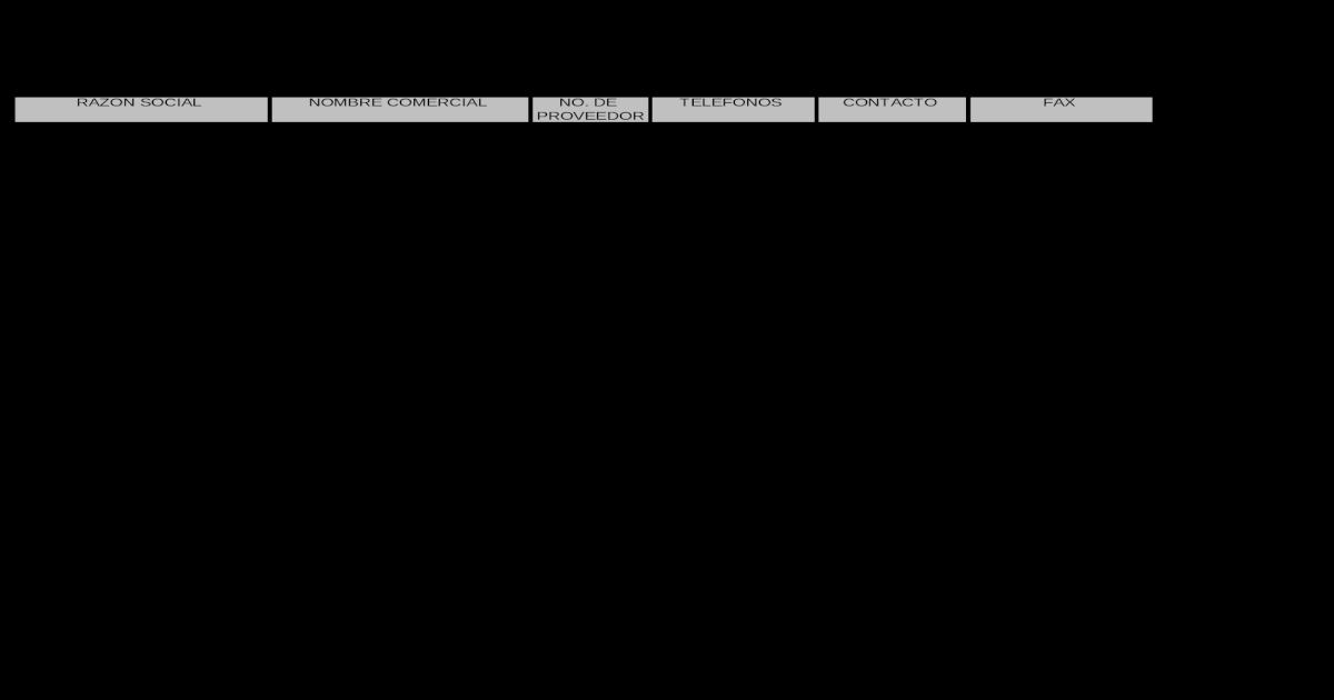 Catalogos de Proveedores - [XLS Document]
