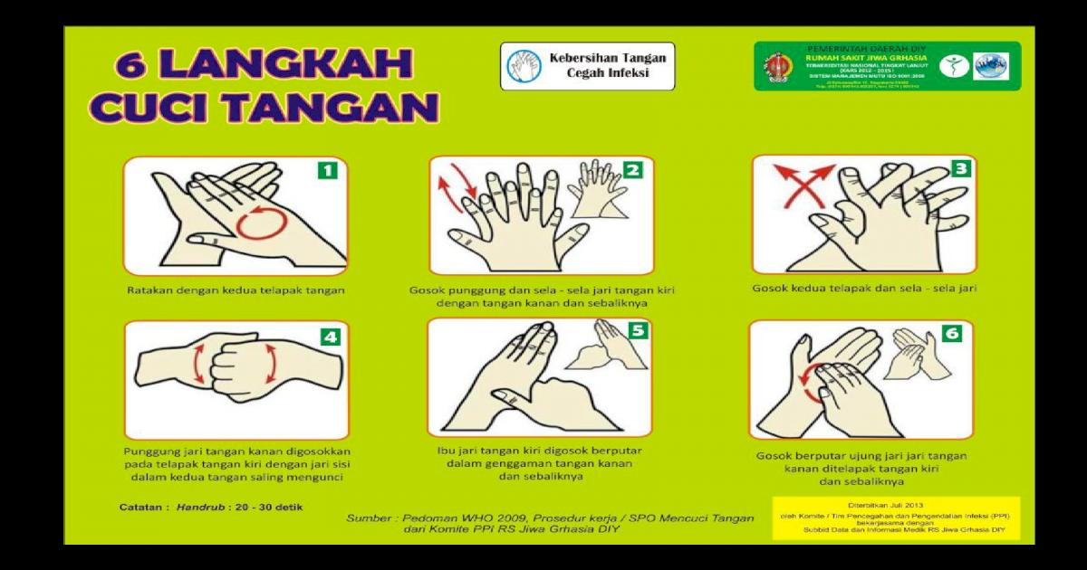 Poster 6 Langkah Cuci Tangan Ide Poster Terbaik