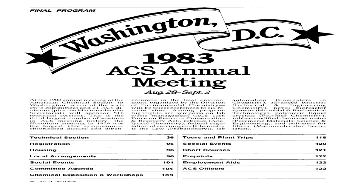 1983 ACS Annual Meeting - [PDF Document]