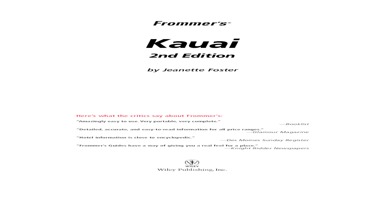 4ad4c33bbef3 Frommer's Kauai - [PDF Document]