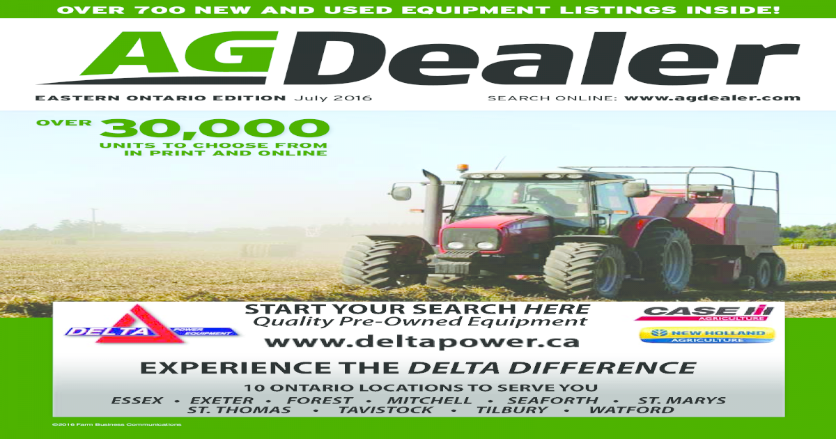 AGDealer Eastern Ontario Edition, July 2016 - [PDF Document]