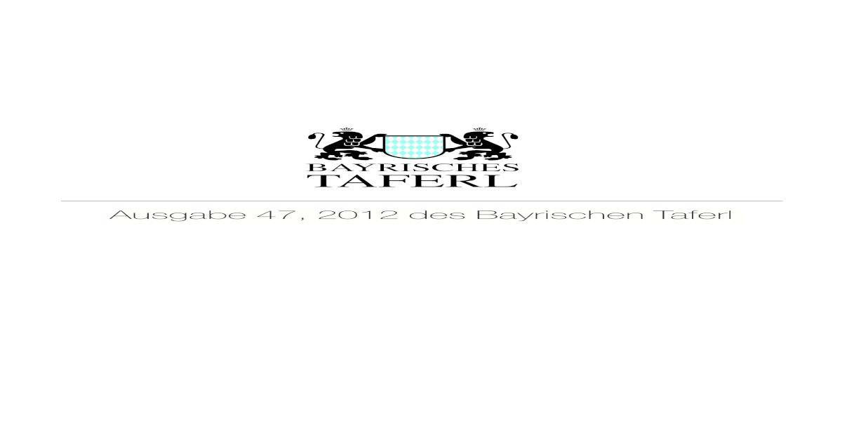 Ausgabe 47 des Bayrischen Taferl - [PDF Document]