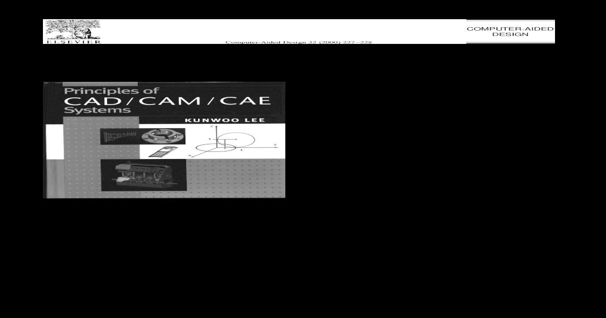 principles of cad/cam/cae systems pdf
