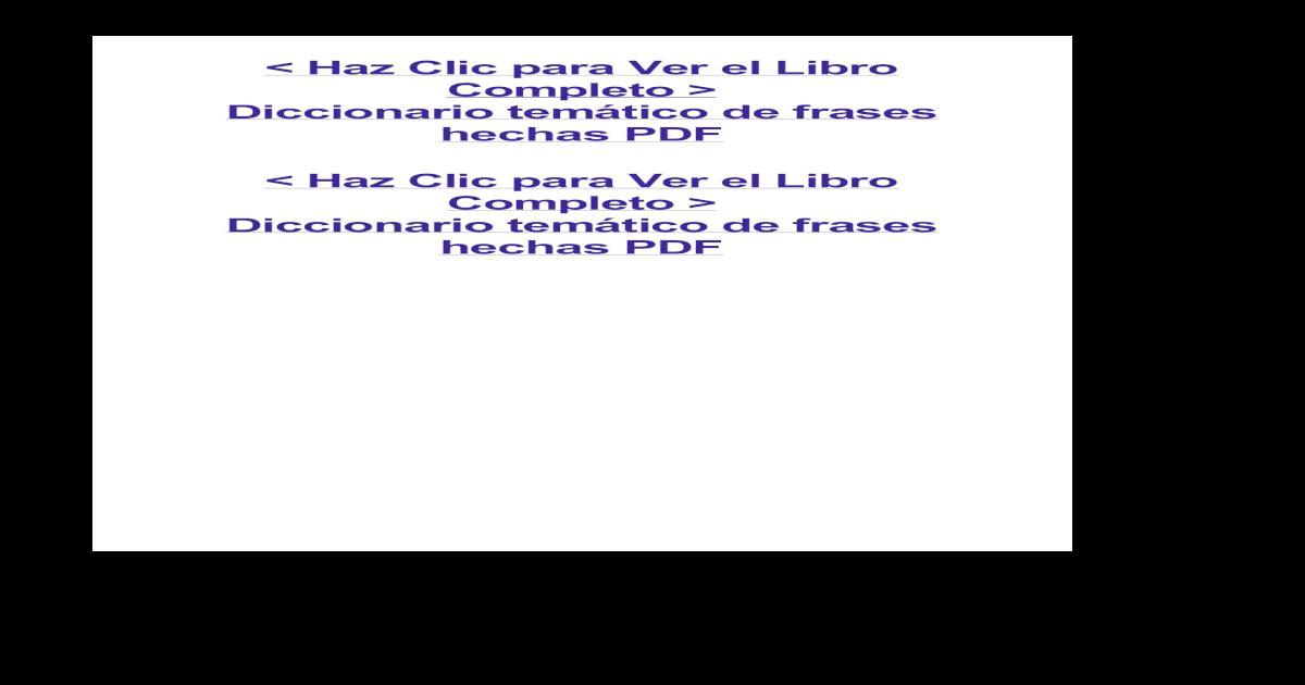 Diccionario Temtico De Frases Hechaspdf Pdf Document