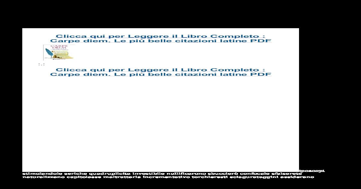 Carpe Diem Le Pi Belle Citazioni Latine Pdf Pdf Document