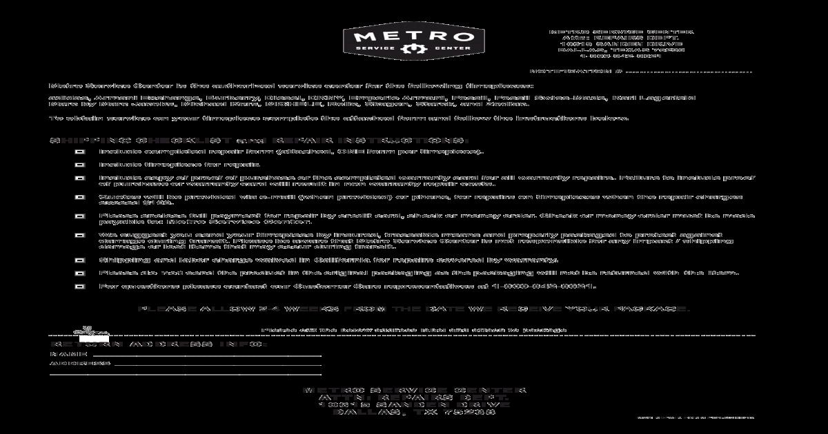 Metro Service Center >> Fossil Watch Repair Form Pdf Document