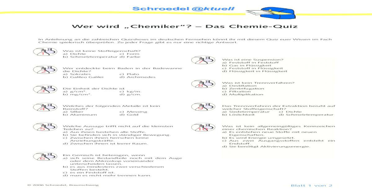 Chemie Quiz Pdf Document