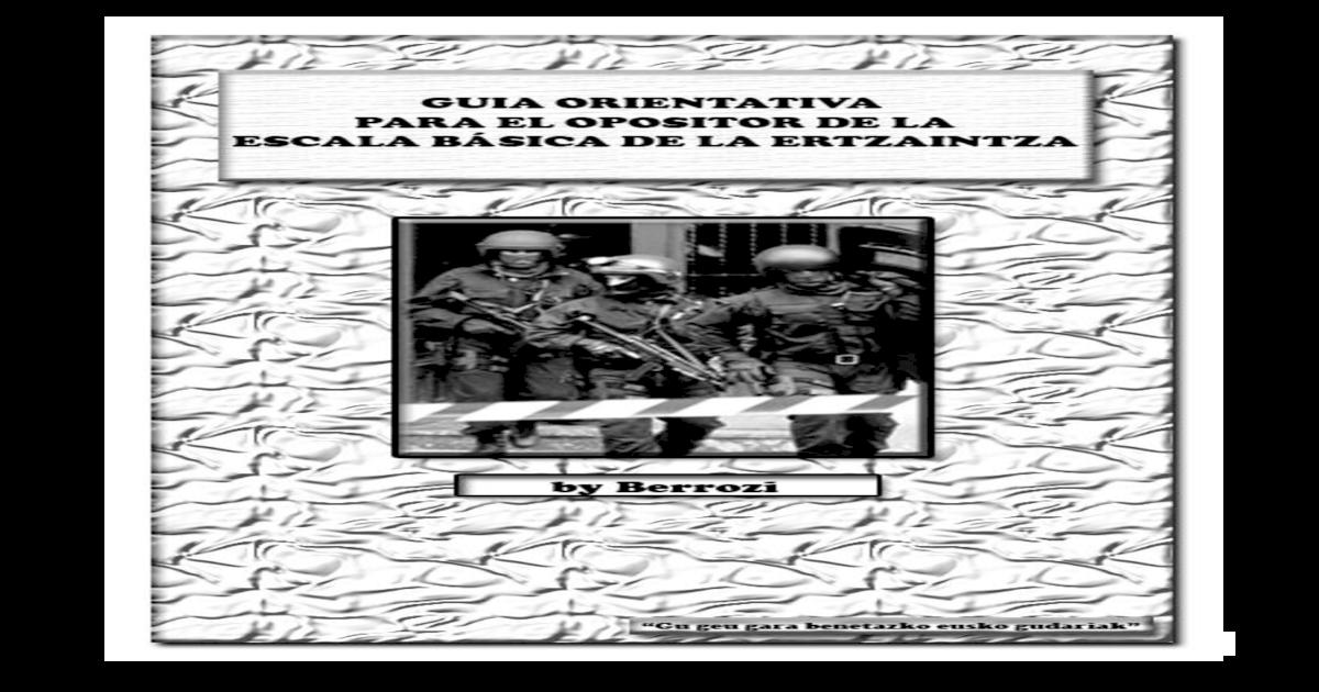 Guia Orientativa Para El Opositor Pdf Document