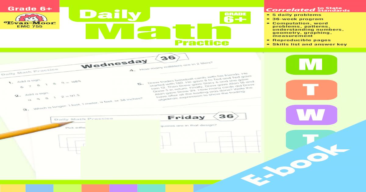 Daily Math Practice Grade 6 - [PDF Document]