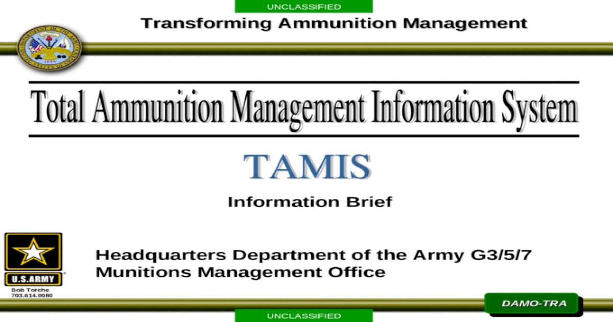 UNCLASSIFIED DAMO-TRA Information Brief Transforming