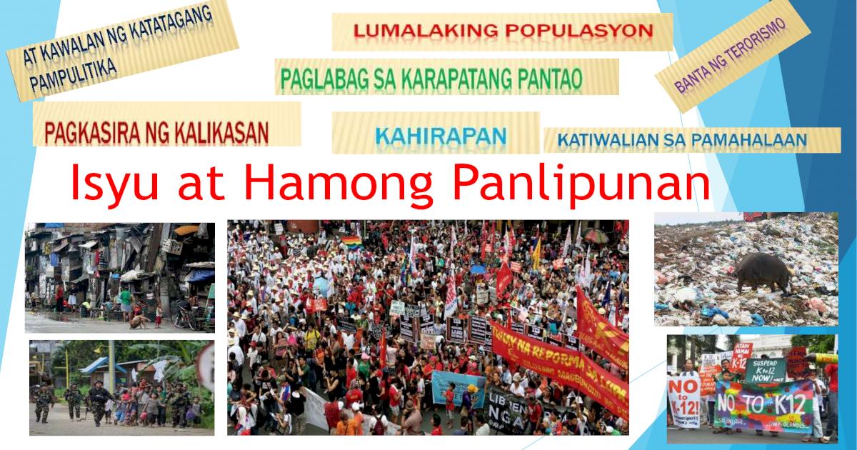 Isyu at Hamong Panlipunan AP 10 - [PDF Document]