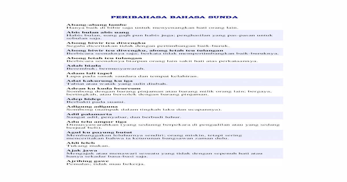 Peribahasa Bahasa Sunda Pdf Document