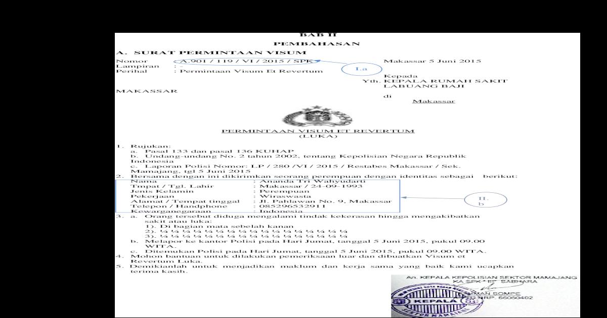 Luka Benda Tumpul Doc Document