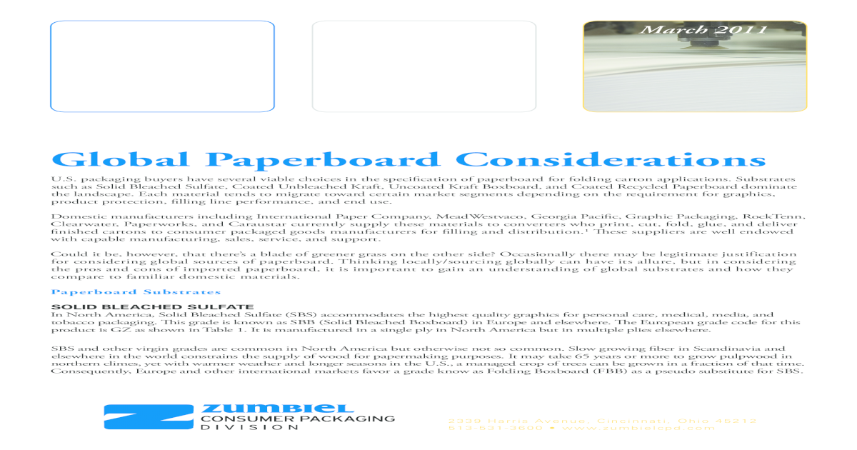 3 Global Paperboard Substrates White Paper - [PDF Document]