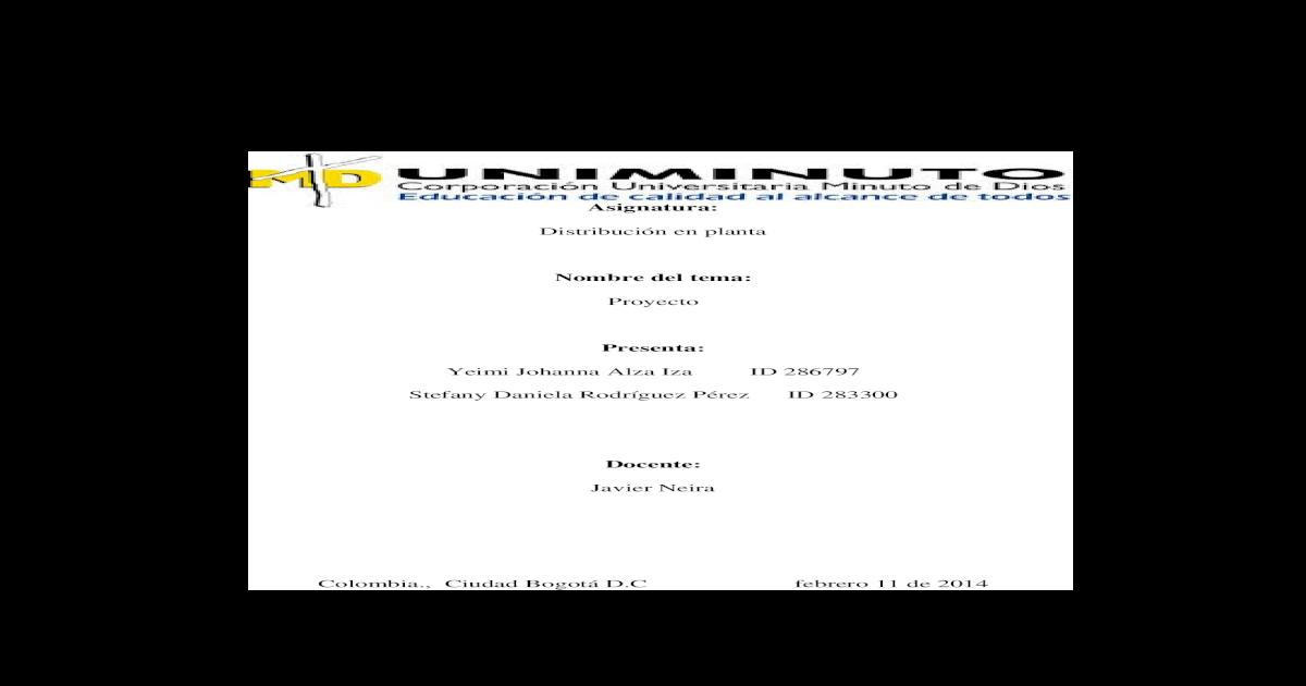 Distribucion En Planta Completo Docx Document