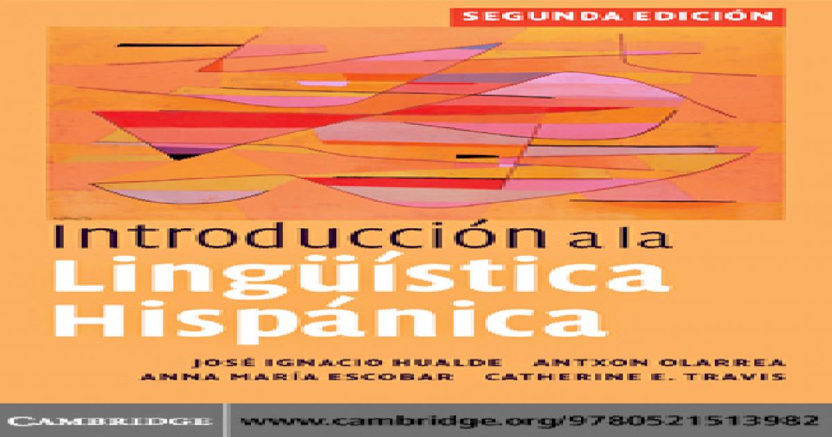 Introduccion Linguistica Hispanica Pdf Document