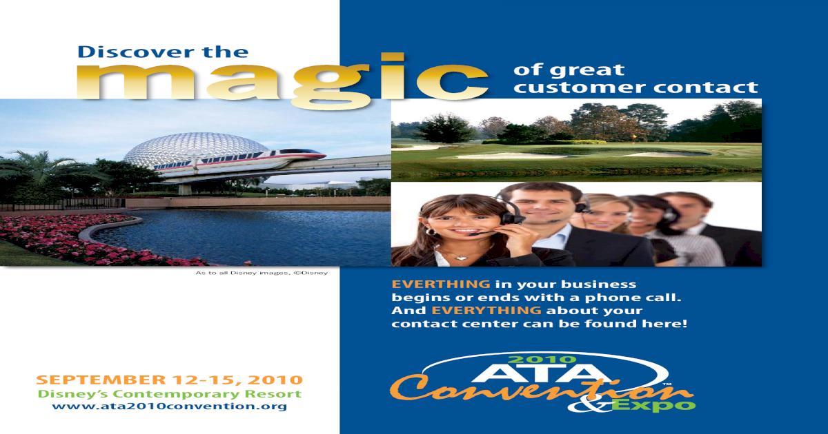 ATA 2010 National Convention Brochure - [PDF Document]