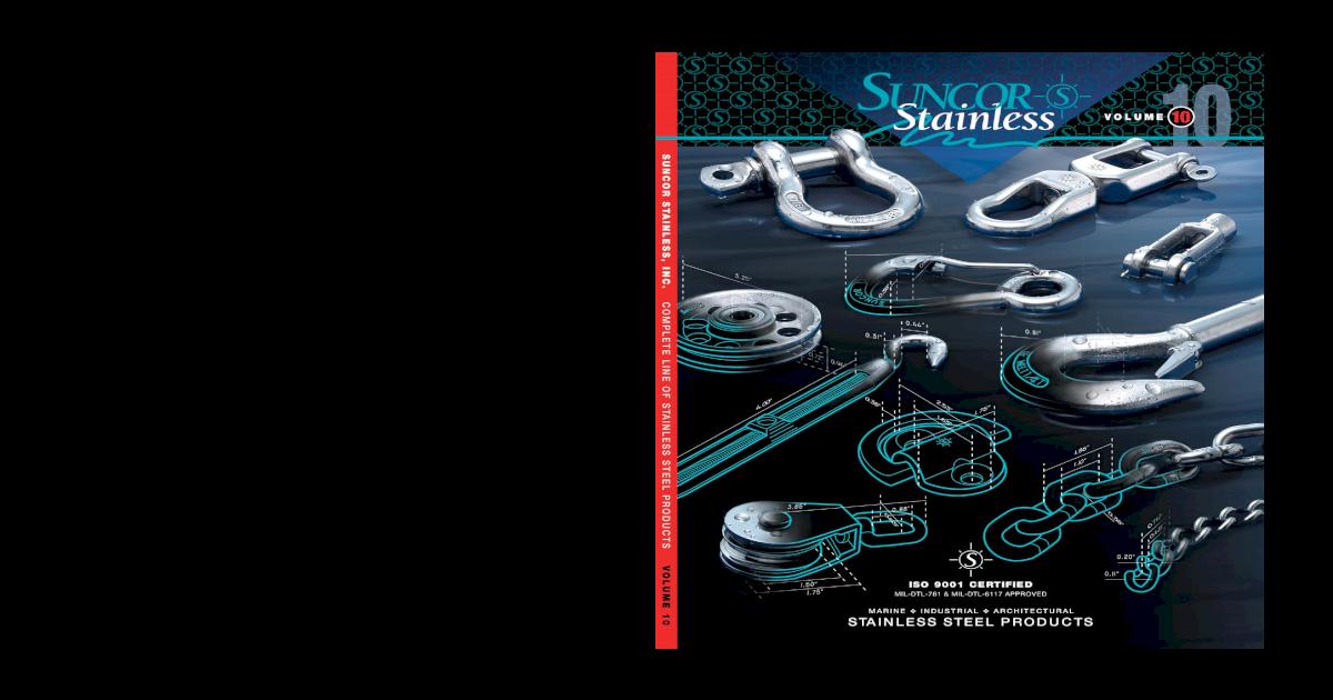 """S0176-0000 316 STAINLESS STEEL SWIVEL BOLT SNAP 3//8/"""""""