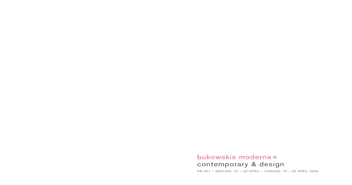 best service cc526 09734 Bukowski s Modern + Contemporary   Design No. 551 -  PDF Document