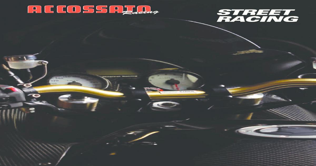 Manubrio Moto Acciaio Cromato ACCOSSATO Superbike Diametro 22 HB150