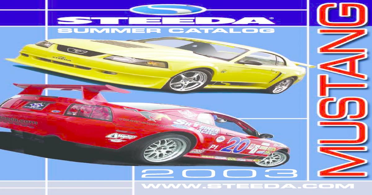 Steeda Catalog - [PDF Document]