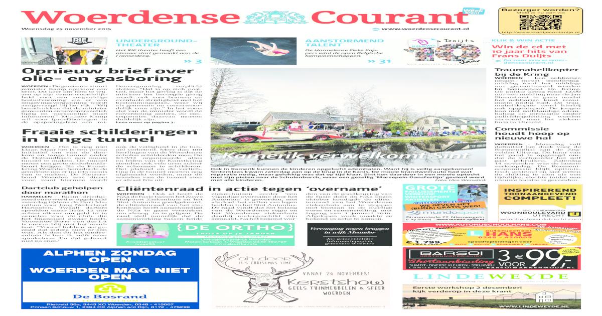 Van Geels Tuinmeubelen Woerden.Woerdense Courant Week48 Pdf Document