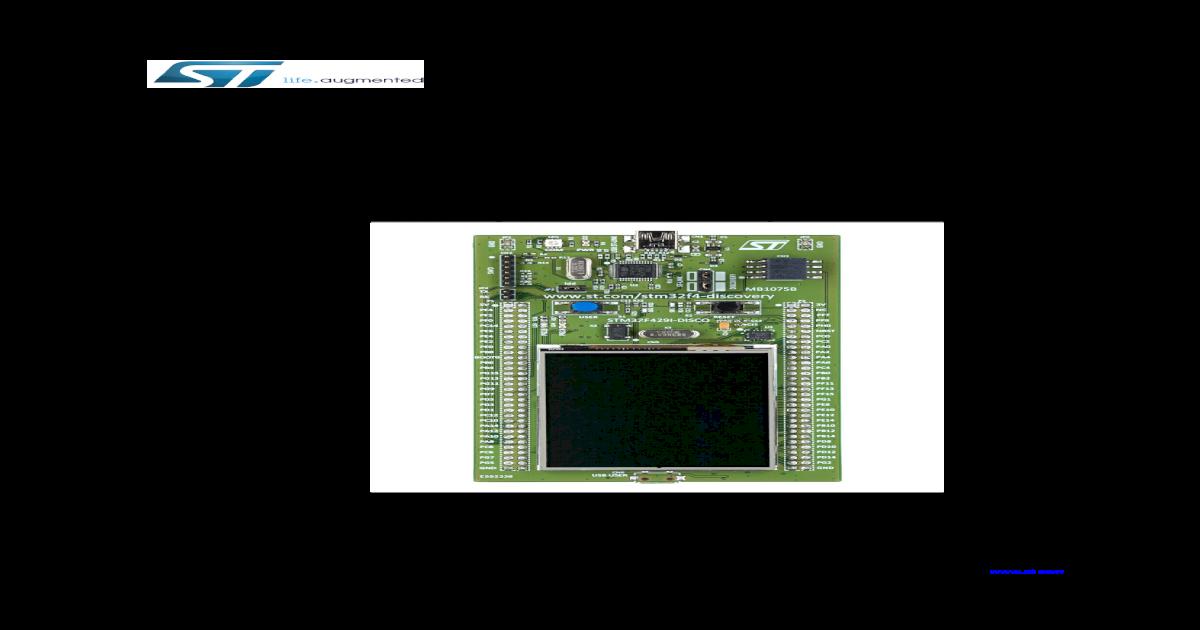 STM32F429 User Manual - [PDF Document]