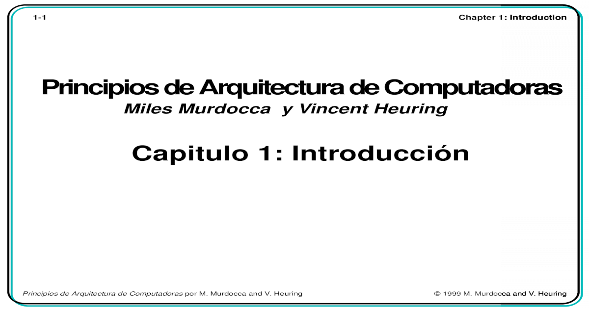 Computer Architecture And Organization Miles Murdocca And Vincent Heuring Pdf