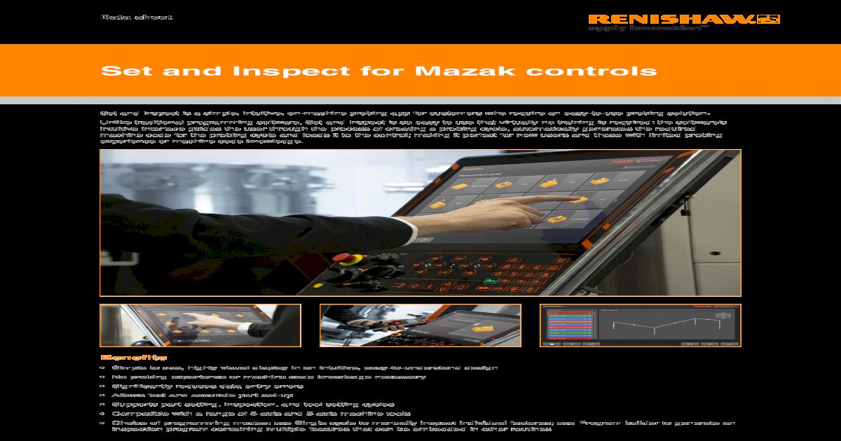 Set and Inspect for Mazak controls - [PDF Document]