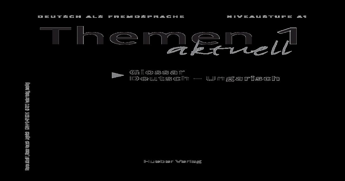 Glossar Deutsch Ungarisch Pdf Document