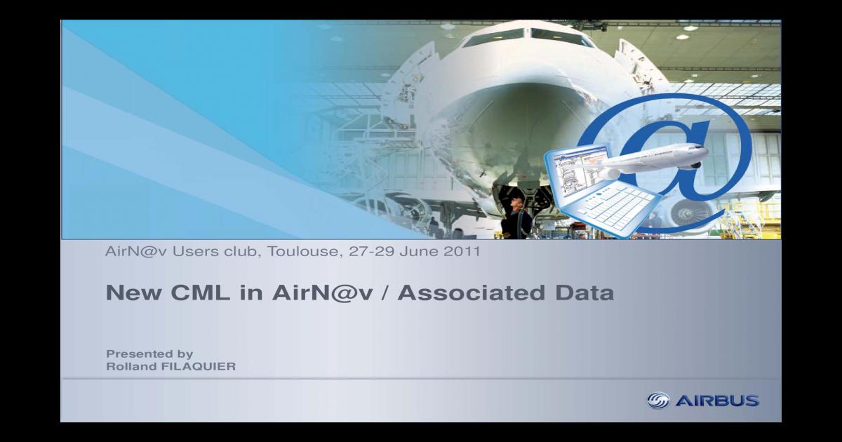 New CML in AirNav Associated Data - [PDF Document]