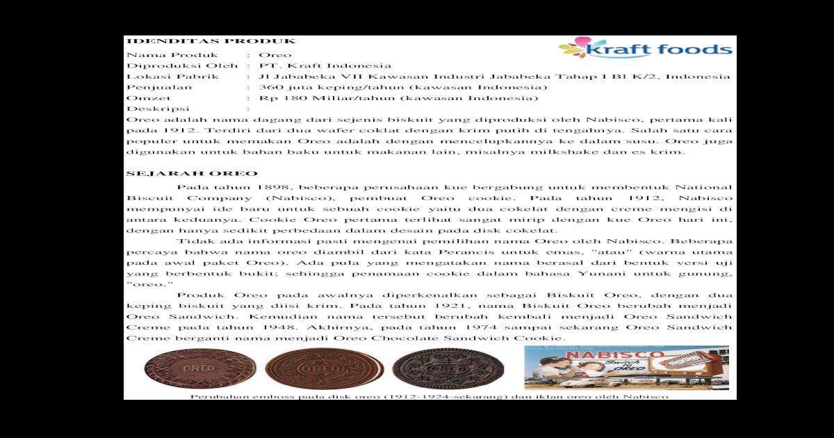 Tugas Oreo Pdf Document