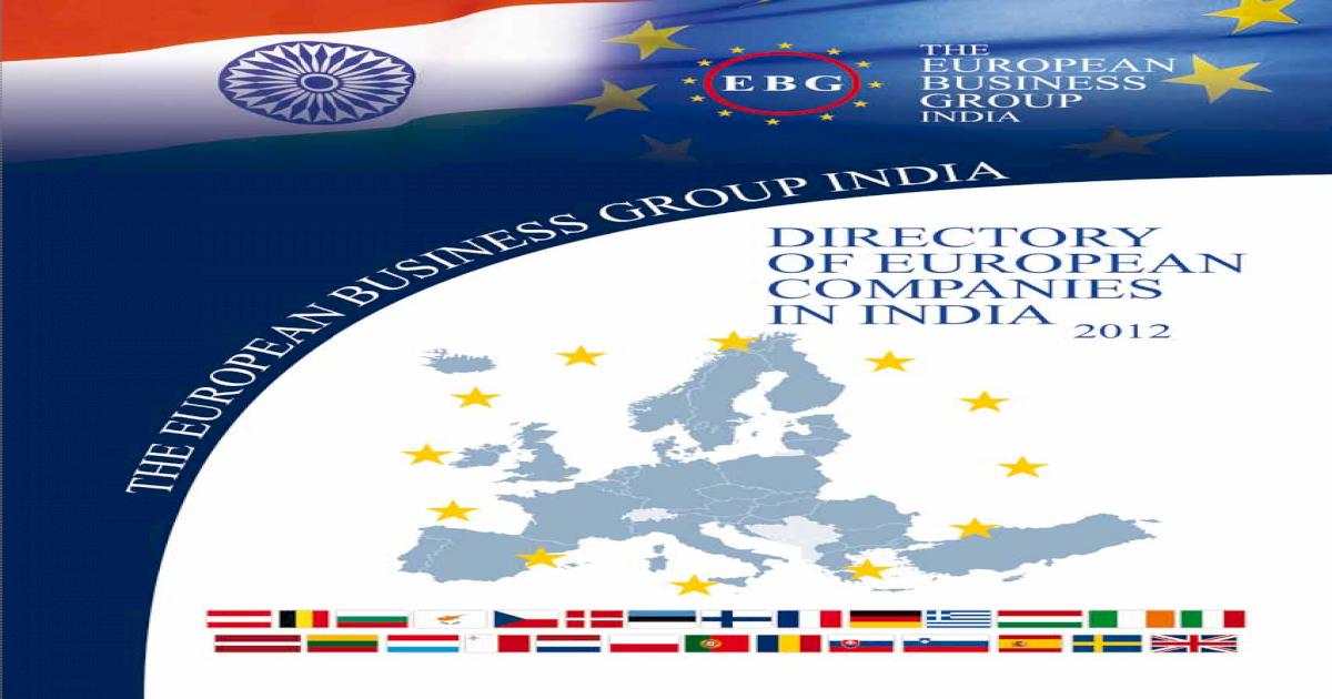 European Companies in India 2012 - [PDF Document]